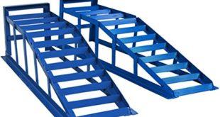 51ZP11K+eOL 310x165 - Helo 2 Stück KFZ Auffahrrampe blau 2000 kg Belastung pro Paar (max. 245 mm Reifenbreite), PKW Rampe Auffahrbock mit 23 Grad Auffahrwinkel und 235 mm Auffahrhöhe