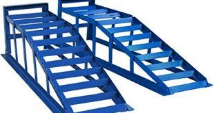 51ZP11KeOL 310x165 - Helo 2 Stück KFZ Auffahrrampe blau 2000 kg Belastung pro Paar (max. 245 mm Reifenbreite), PKW Rampe Auffahrbock mit 23 Grad Auffahrwinkel und 235 mm Auffahrhöhe