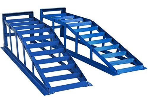 51ZP11KeOL 500x330 - Helo 2 Stück KFZ Auffahrrampe blau 2000 kg Belastung pro Paar (max. 245 mm Reifenbreite), PKW Rampe Auffahrbock mit 23 Grad Auffahrwinkel und 235 mm Auffahrhöhe