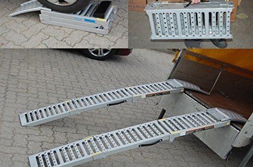 61DmXJEYLL 500x330 - 2x Auffahrrampe Stahl 500 Kg (Traglast Paar) klappbare faltbare Rampe Auffahrschiene Motorradrampe Auffahrbock (Traglast 1600 Kg Paar) Verladerampe Verladerampen Laderampe Laderampen