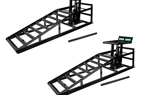 TrutzHolm® hydraulischer Auffahrbock Auffahrrampe Pkw KfZ Verladerampen Wagenheber höhenverstellbar (2 Stück)